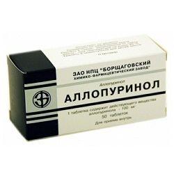 Аллопуринол в таблетках 100 мг