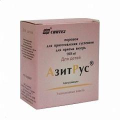 Порошок дл приготовления суспензии для приема внутрь АзитРус
