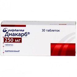 Таблетки Диакарб 250 мг
