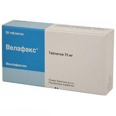 Таблетки Велафакс 75 мг