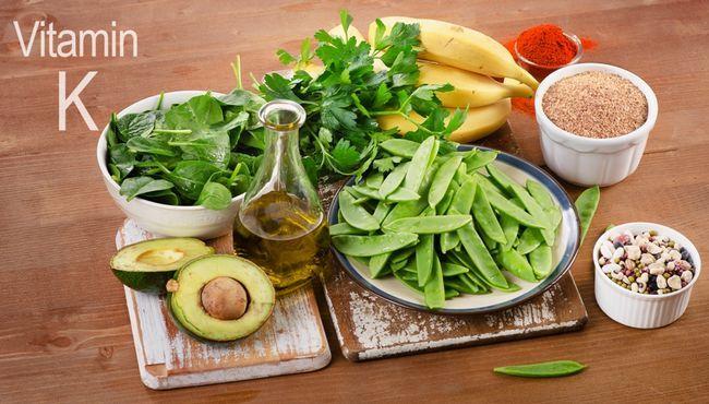 Содержание витамина K в продуктах