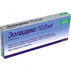 Zoladex la o doză de 10,8 mg